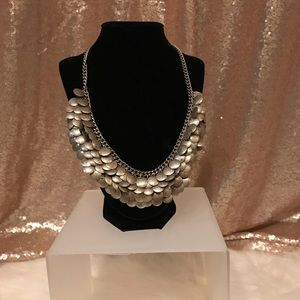 Jewelry - Silver Layered Pebbled Fashion Necklace
